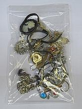 PARCEL OF VARIOUS JEWELLERY, WRISTWATCHES, ETC.