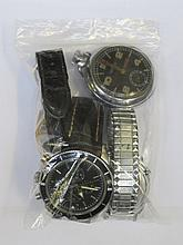 GENTS WRISTWATCH, TWO OTHER WRISTWATCHES PLUS SILVER COLOURED POCKET WATCH