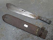 VINTAGE KNIFE WITH SCABBARD, W GILPIN 1813