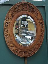 CARVED ORIENTAL STYLE MIRROR