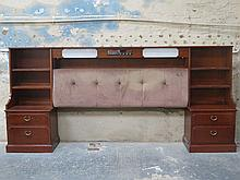 G PLAN 1970s STYLE HEAD BOARD WITH DRAWERS EITHER SIDE AND INTEGRATED BINAT