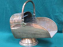 VINTAGE COPPER COAL SCUTTLE WITH SWING OVER HANDLE