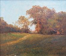 ALFRED DE BREANSKI SNR, GILT FRAMED OIL ON CANVAS- A MAY AFTERNOON, APPROXI