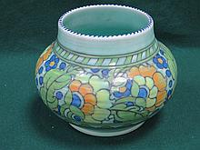CROWN DUCAL TUBE LINED CERAMIC VASE, SIGNED BY CHARLOTTE RHEAD AND NUMBERED