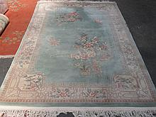 MODERN FLORAL DECORATED CHINESE FLOOR RUG, APPROXIMATELY 183cm x 280cm