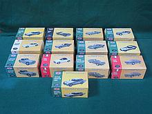 QUANTITY OF APPROX THIRTEEN VARIOUS ATLAS MODEL BOXED DIE-CAST CLASSIC SPORTS CARS.