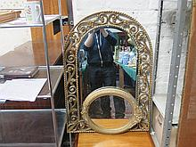 TWO DECORATIVE GILDED WALL MIRRORS