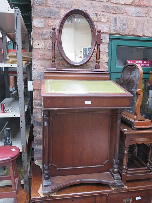 Reproduction Davenport Desk And Swing Mirror