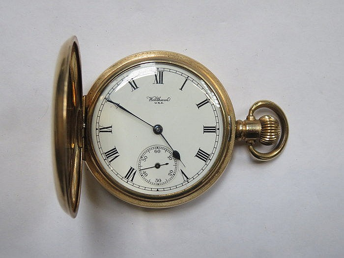 GOLD PLATED WALTHAM AMERICAN POCKET WATCH