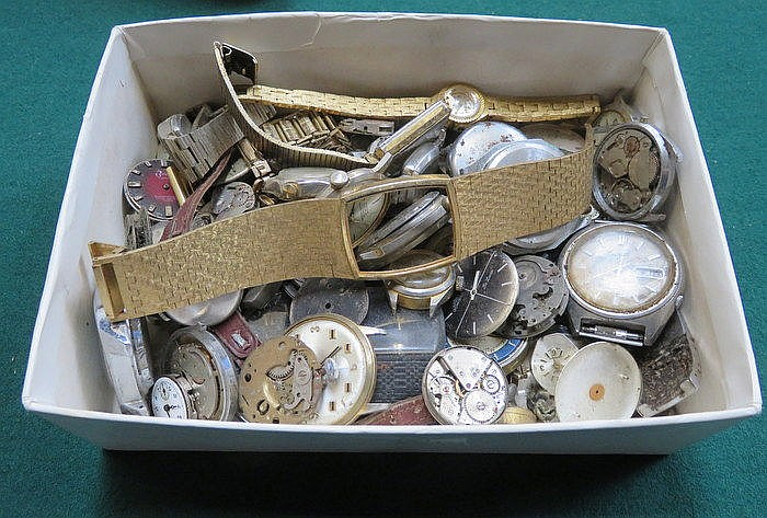 BOX CONTAINING WATCHES, PARTS AND ACCESSORIES