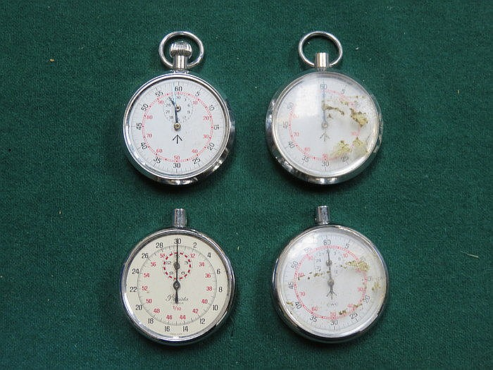 FOUR MILITARY STOP WATCHES