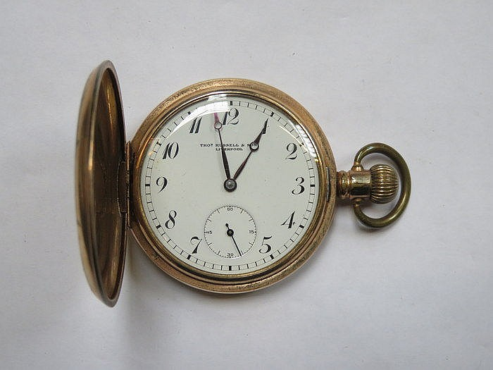 THOMAS RUSSELL GOLD PLATED POCKET WATCH