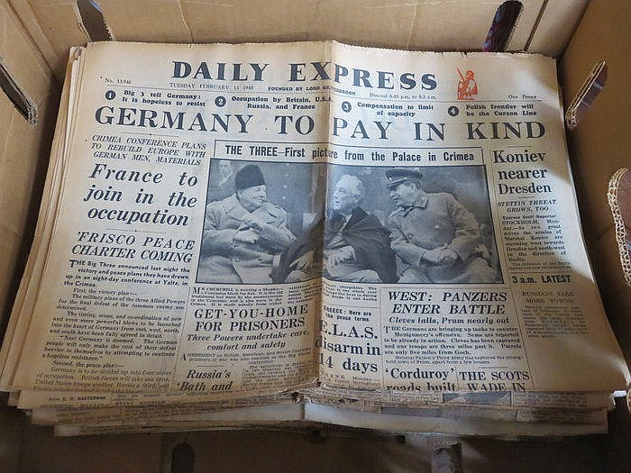 PARCEL OF MAINLY WORLD WAR II NEWSPAPERS