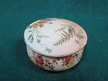 ROYAL WORCESTER SMALL CERAMIC POT WITH COVER