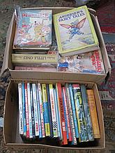 TWO BOXES CONTAINING VARIOUS CHILDREN ANNUALS.