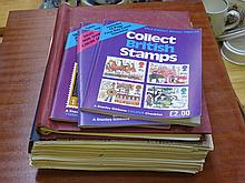 THREE ALBUMS OF MAINLY BRITISH POSTAGE STAMPS.