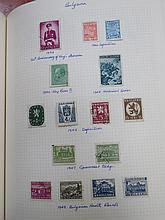 THREE ALBUMS OF MAINLY FOREIGN POSTAGE STAMPS.