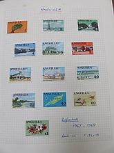 THREE ALBUMS OF VARIOUS POSTAGE STAMPS.
