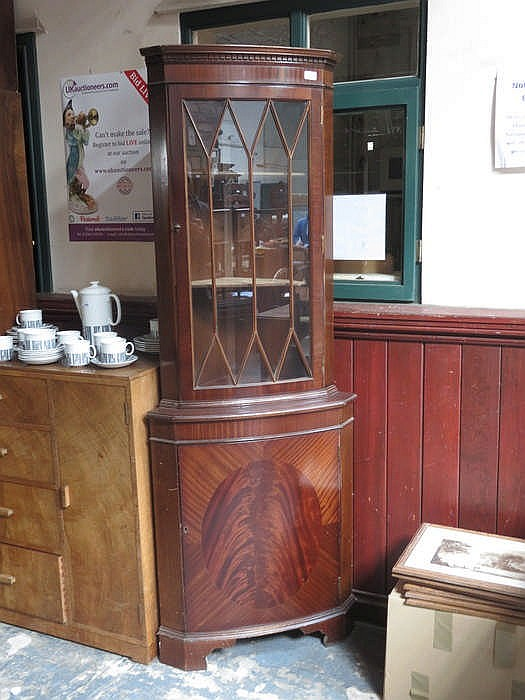 Reproduction mahogany corner cabinet for Reproduction kitchen cabinets