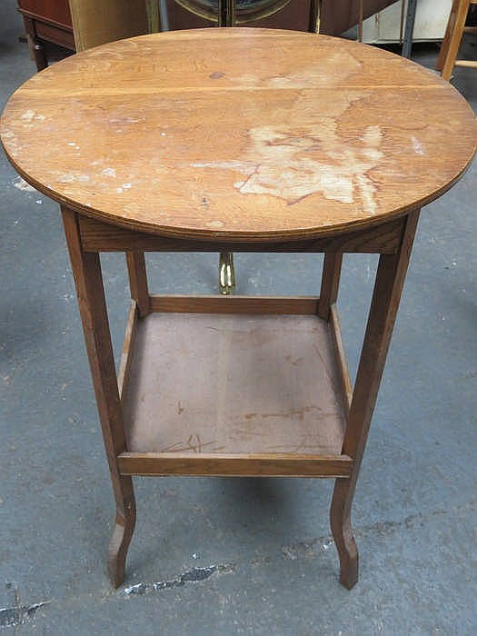 Small oak circular occasional table for Small occasional tables
