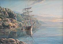 Last of the Great East India Fleet (Clipper Ship Mindoro) by Maarten Platje