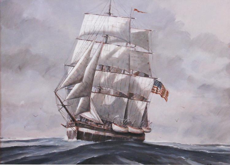 On a Stormy Sea by Nicholas Berger
