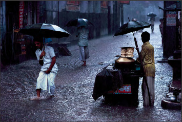 Man in Monsoon by Steve McCurry
