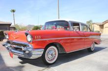 1957 Chevy Belair 4 door (red)
