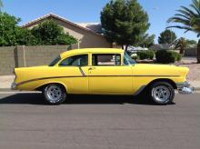 1956 Chevy 210  (yellow)