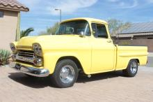 1959 Chevy Apatche Truck Shortbed Yellow Longbed
