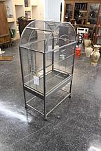 Large Metal Bird Cage On Wheels