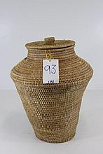 Hand Woven Basket with Lid