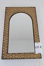 Metal Framed Woven Design Mirror