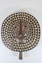 Handmade Round African Mask