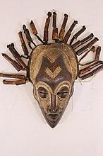 Dreadlock African Mask