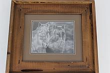 Wood Framed Print Signed Glenn Powell