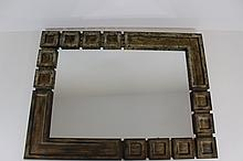 Large Wood Framed Mirror (Decorative Squares)
