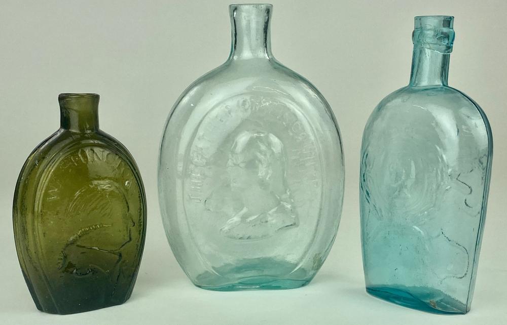 Historical Portrait and Eagle Bottles