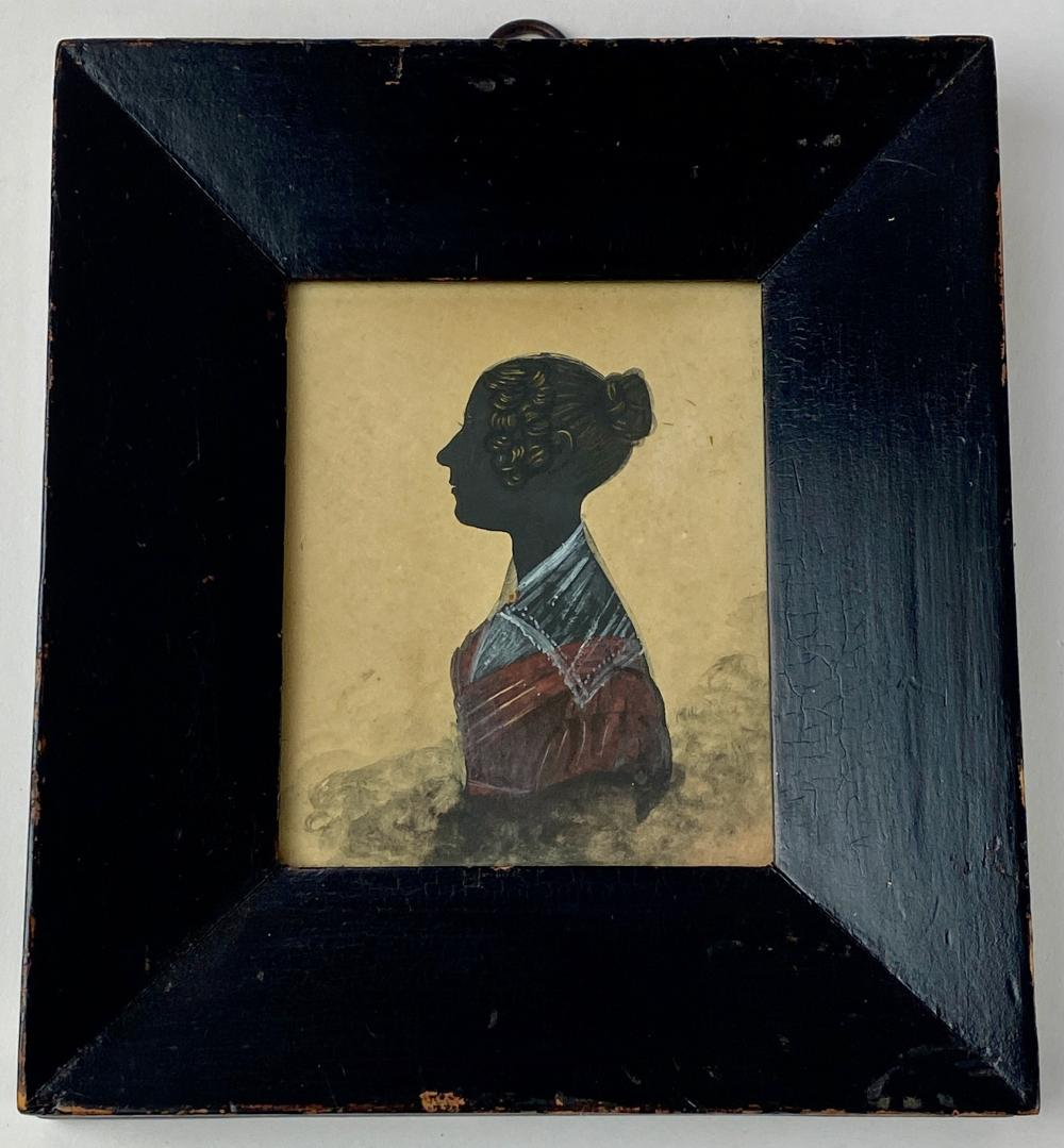 American Painted Silhouette of a Lady