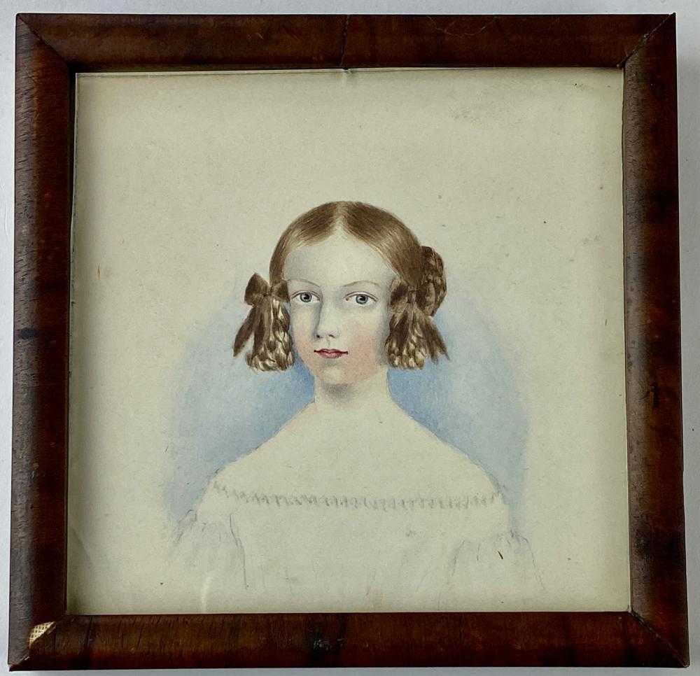 Sarah Bell Bryan's Sister, Miniature 19th C. Portrait