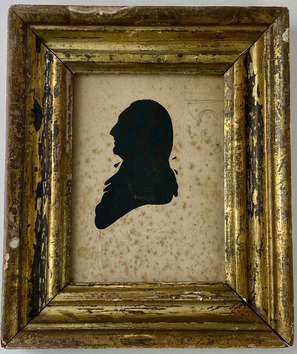 19th C. Profile Silhouette of a Gentleman