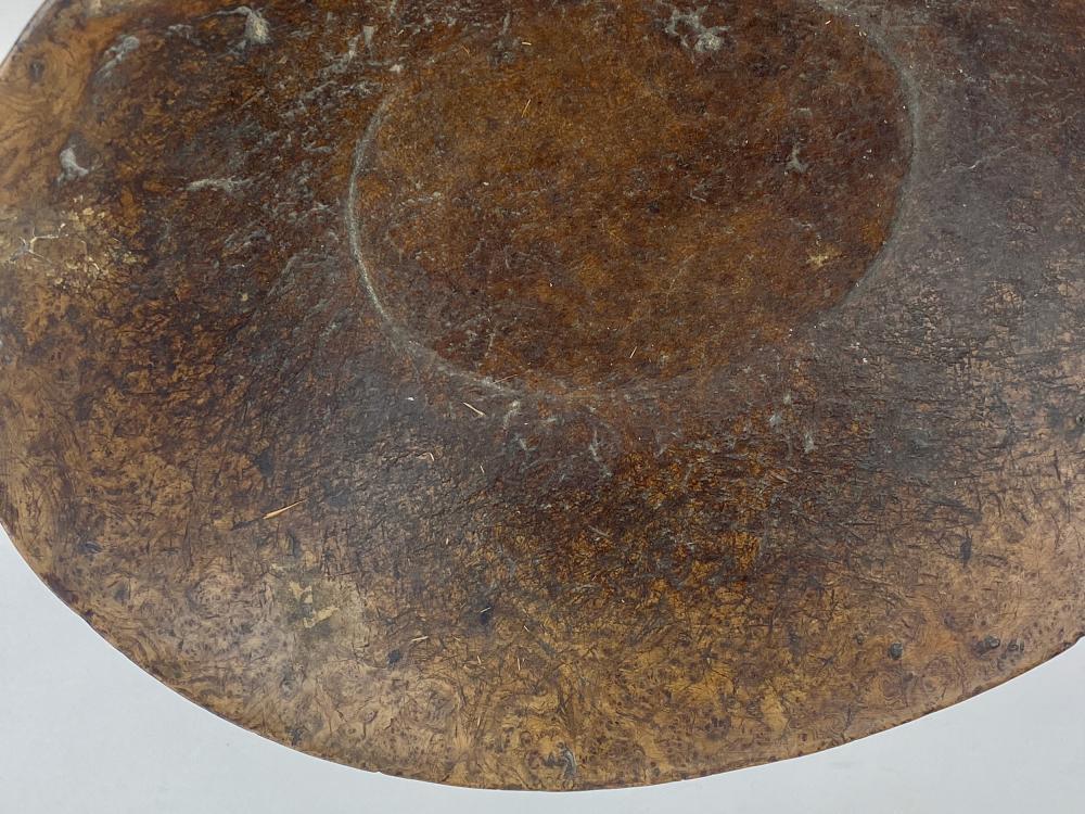 18th Century Hand Hewn Burl Wood Bowl