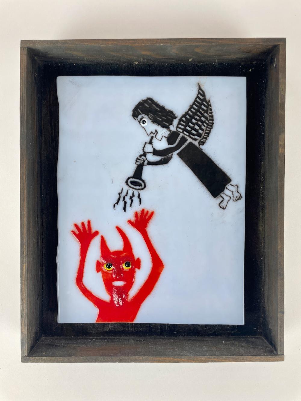 T Marie Nolan Outsider Art Enamel