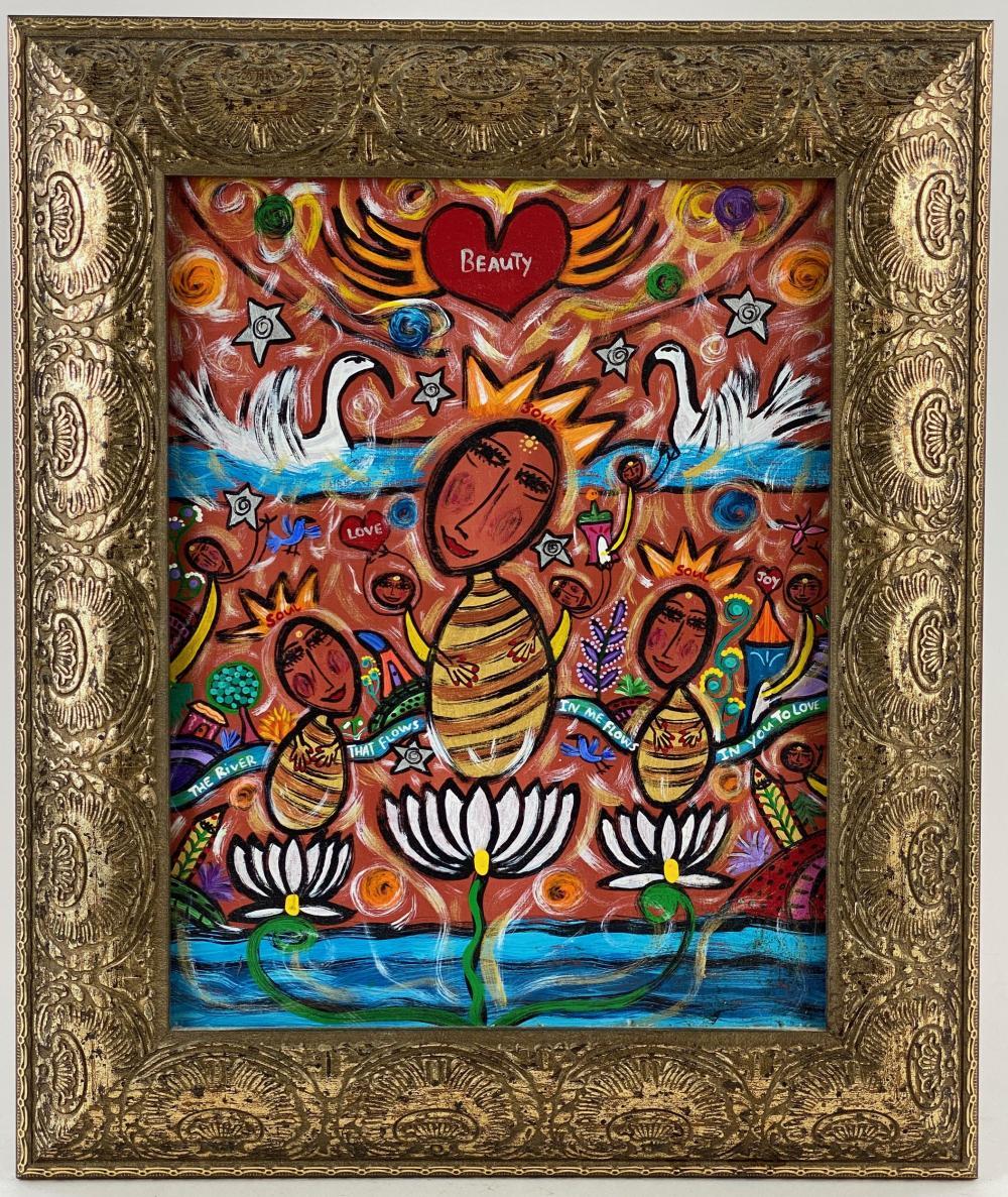 Folk Art Painting by Joni Goldman