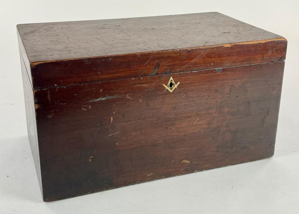 Valuables Box with Masonic Inlay