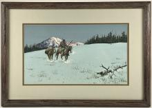 Austin Deuel (American, b. 1939), Western Landscape