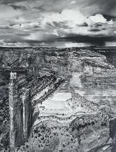 "Jody Forster (b. 1948), ""Spider Rock and Thunderstorm, Canyon de Chelly, Arizona"""