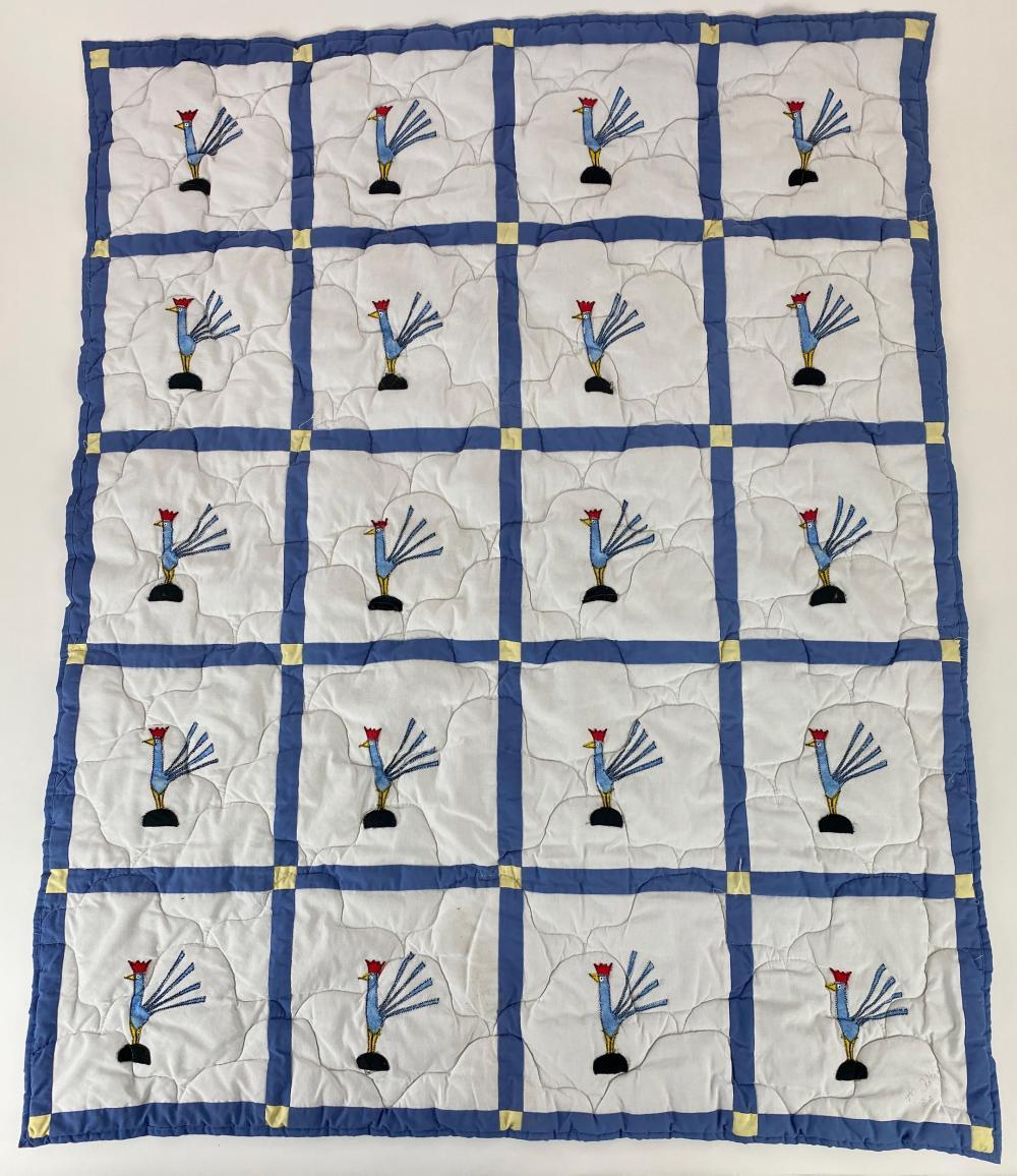 Minnie Adkins (KY, 1934), Blue Chicken Quilt