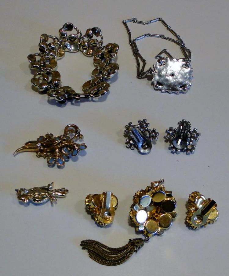 costume jewelry to include gerrys coro austrian crystals