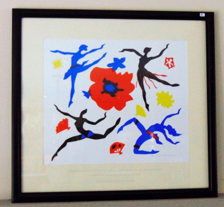 Frank Schomer Lichtner (Wisconsin, 1905-2006), silkscreen w/embossed dedication, signed, 19/50, 30.25
